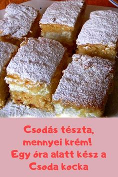 roppant finom! #sütemény #tészta Ital Food, Smoothie Fruit, Hungarian Recipes, Sweets Cake, Diy Food, Cake Cookies, Dessert Recipes, Cooking Recipes, Food And Drink