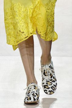Come see the very best shoe trends from the spring 2016 runways, including these Junya Watanabe leopard oxfords