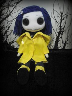 Coraline Rag Doll by ChamberOfDolls on Etsy                                                                                                                                                                                 More