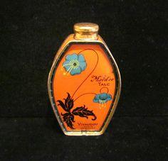 1920s Paris Vivaudou Powder Tin Maid'or Talc Talcum Powder Tin Lithography Vintage Mavis Tin Rare