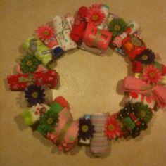 My version of baby shower wreath.