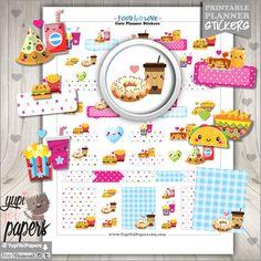 Love Stickers, Planner Stickers, Food Stickers, Kawaii Stickers, Planner Accessories, Perfect Pair, Erin Condren, Donut Stickers