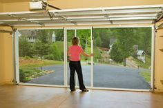 Garage screen system lifestyle garage screen door for Roll down garage door screen