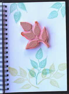 Hand Carved Stamp - Five Leaves
