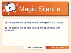 silent e lesson... smartboard