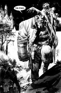 Hellboy commission by seangordonmurphy