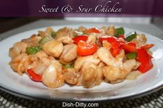 Sweet & Sour Chicken by Dish Ditty