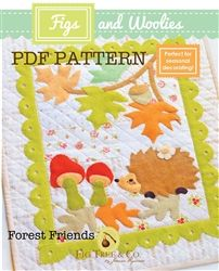 FIGS & WOOLIES: Forest Friends Downloadable Wool Quilts, Mini Quilts, Applique Quilts, Quilting Projects, Sewing Projects, Legal Size Paper, Tree Company, Tree Quilt, Forest Friends