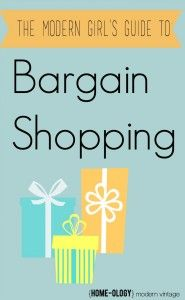 Guide to Bargain Shopping | {Home-ology} modern vintage
