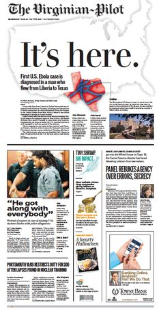 The Virginian-Pilot's front page for Wednesday, Oct. 1, 2014.