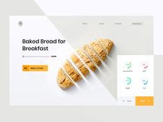 Restaurant designed by Zihad-Islam. Connect with them on Dribbble; Design Web, Website Design Layout, Layout Design, Logo Design, Website Designs, Graphic Design, Organic Food Delivery, Modern Website, Best Banner