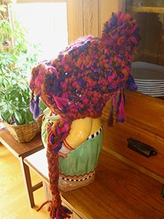 Artsy Woodsy Crochet Hat  Size Child to Small Adult by laughingelf, $27.00