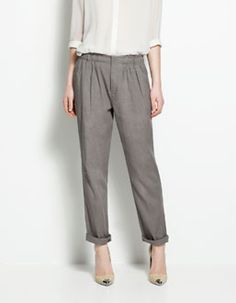 Zara TROUSERS WITH ELASTICATED WAIST