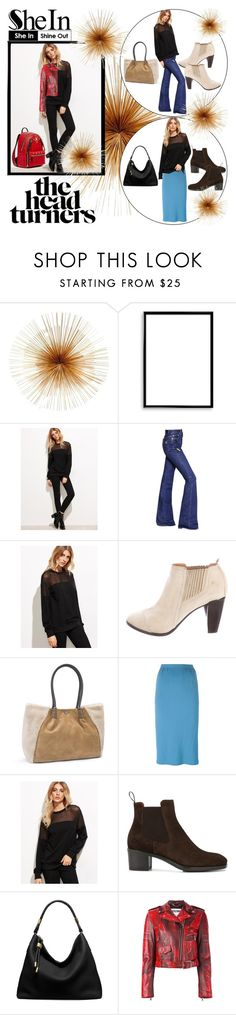 """""""Shein Black Sweatshirt!"""" by bevmardesigns ❤ liked on Polyvore featuring Moe's Home Collection, Bomedo, Sonia Rykiel, COSTUME NATIONAL, UGG, Jean-Louis Scherrer, Santoni, Michael Kors, Moschino and MCM"""