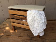 Upholstered Crate Ottoman  Hinged Lid for Storage #FreightCenter