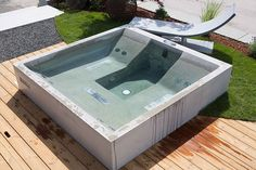 Concrete Jacuzzi. Whirlpool by dade design