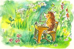 Marijke Duffhauss #illustrations #hedgehog