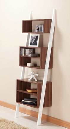 I love a ladder or leaning bookcase