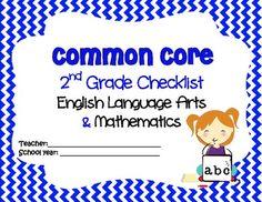 2nd Grade Common Core Checklist for ELA & Math