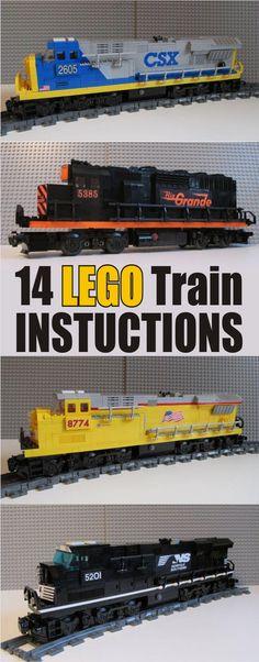 14 great LEGO Train Instructions. LEGO Instructions, #ad