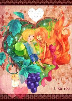 Finn and Flame Princess - Adventure Time