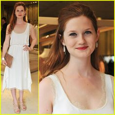 Bonnie Wright (Better known as Ginny Weasley) She became such a beautiful woman.