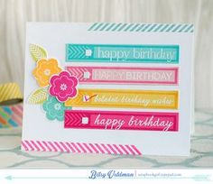 Birthday Checklist Card by Betsy Veldman for Papertrey Ink (January 2015)