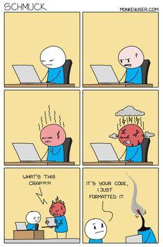 Programming Humor, Computer Humor, Software Development, Satire, Peanuts Comics, Funny, Contents, Apps, Memes
