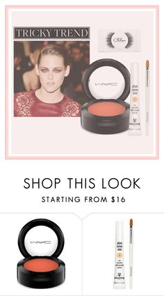 """""""red eye makeup"""" by rozacat ❤ liked on Polyvore featuring beauty, MAC Cosmetics, Sisley and Chelsea Beautique"""