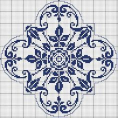 Square 62 - Chart for cross stitch or filet crochet.