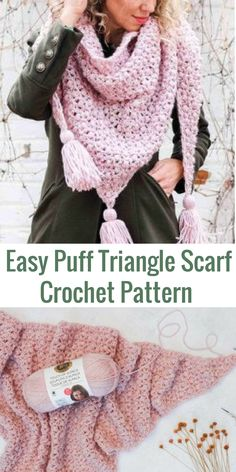 This crochet scarf pattern will teach you how to make a sophisticated-looking (but very simple!) worsted weight lace puff stitch wrap. #crochetscarfpattern #crochetscarf #crochetwrappattern #crochetshawlpattern #beginnercrochetpatterns #affiliate