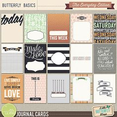 Butterfly Basics - The Everyday Edition {journal cards}