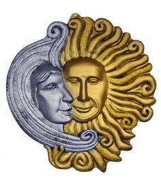 Ντεκόρ Τοίχου Ηλιος Και Φεγγάρι