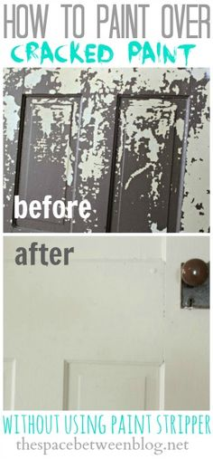 Great tutorial!  Step-by-step instructions (with pictures) showing how to paint over cracked paint and get a smooth finish