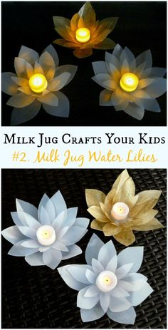 DIY Milk Jug Votives Instructions - Recycled #MilkJug Crafts Your Kids Can Do #Recycle