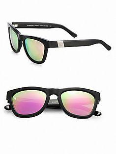 9fc59a29ba3 Westward Leaning Mercury Seven Square Acetate Sunglasses Black   Pink  Mercury Seven