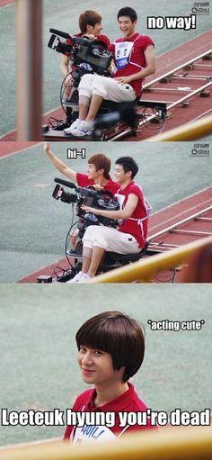 Ahhh, #Leeteuk/#Minho, #Taemin  ~~ lolll  hehehe taemin's cute face :)