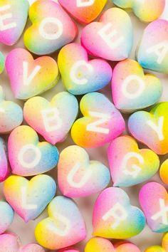 Rainbow Gradient macarons for Valentine's Day. #sweet
