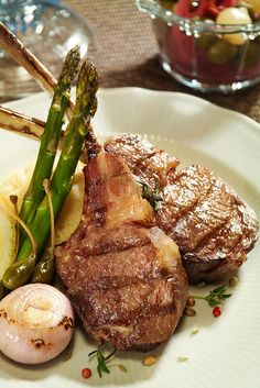 Fine dining- lamb chops