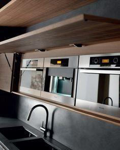 Raue ausgefallene Küchen Designs spüle regale wand geschirr ...
