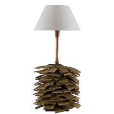 Copper & shingle table lamp Gie El