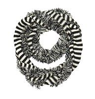 Stripe Fringed Infinity Scarf - The cute goes on forever with this adorably striped infinity style – in an oh so cozy knit.