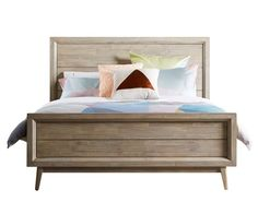 """**Timber Celeste queen bed frame**, from $1299. There's a '60s vibe to this bed, which is constructed from acacia. It comes in queen and king sizes, and matching furniture is available. Bedshed; [www.bedshed.com.au](www.bedshed.com.au/?utm_campaign=supplier/