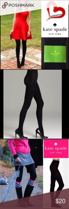 Kate spade ♠️ tights ♠️ new with tags Kate Spade black tights, comfortable, lightweight & high quality. Opaque solid black. Will not fade or shrink size M/L kate spade Intimates & Sleepwear