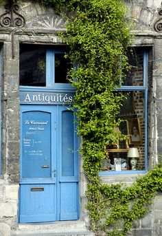 storefront of an antique shop in tournai, belgium | travel photography #shops