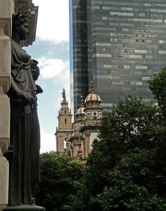 neoclassical, baroque, contemporary - Antiga Rua da Direita (atual 1º de março street) - Rio de Janeiro downtown