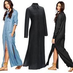 Celeb Ladies Long Sleeve Split Evening Party Plus Size 8 12 14 16 18 Maxi Dress | eBay