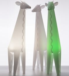Children's night and reading lights - ZZZoolight - Eastern Inspired Origami Lights for Children and the young at Heart Origami Lights, Kids Lighting, Young At Heart, Like Animals, Childproofing, Lava Lamp, Night Light, Giraffe, Table Lamp