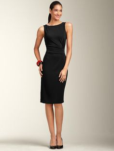 Matte Jersey Ruched Sash Dress ($139)...I can not wait to own me a little black dress...coming soon...WOO HOO!!!  =)