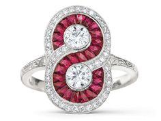 Ruby swirl ring